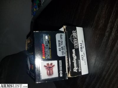 For Sale: 40sw self defense ammo