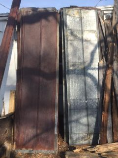 OLD tin roofing from tobacco barn