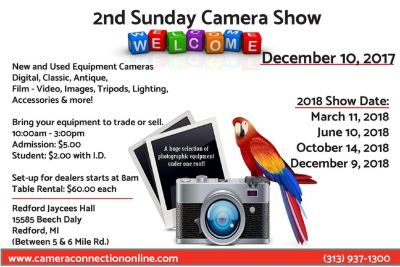 "2nd Sunday ""Camera Show"""