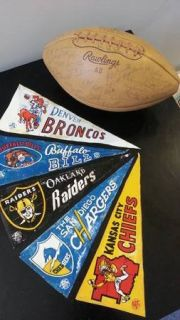 AFL NFL 1966 Football Pennants