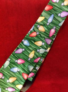 Classic/Vintage Keith Daniels Winter Neck Tie - Christmas Lights