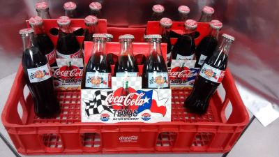 1997 COCA COLA 300 TEXAS MOTOR SPEEDWAY INAUGURAL RACE 8 OZ COCA COLA BOTTLE 6-PACKS with PLASTI...