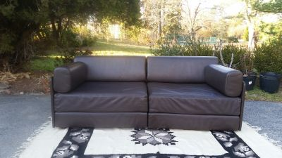Vintage De Sede DS76 Modular Leather Sleeper Sofa