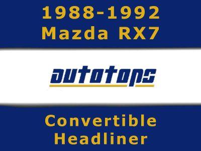 Sell 1988-1992 Mazda RX7 Convertible top HEADLINER HEAD LINER motorcycle in Shamokin, Pennsylvania, US, for US $189.00