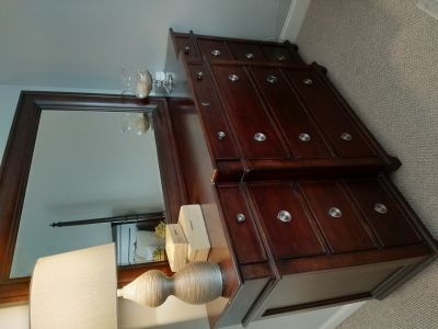Dresser, Mirror, and 2 Nightstands Lane Furniture Gramercy Park Collection