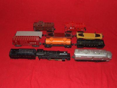 LIONEL O Scale Train Set Assortment Engines Cars Cabooses & More