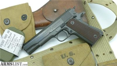 For Sale: WWII Original 1943 GHD Colt 1911A1 1911