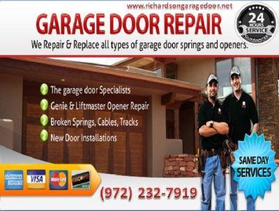 Quickly Response on Garage Door Spring Repair Richardson, 75081 TX