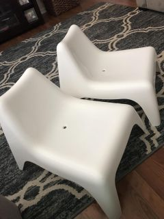 Set of White chairs $20 for PPU