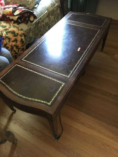 Coffee table with center drawer