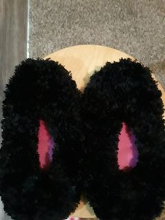 Black and red slippers