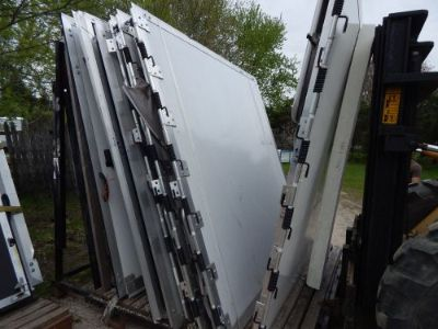 "Purchase Trailer Door, 93""X96"", Rear Trailer Door Ramp, New, White, With Screen Area, #51 motorcycle in Adrian, Michigan, United States, for US $500.00"