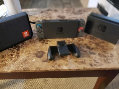 Brand New Neon Nintendo Switch with accessories