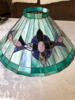 Beautiful stained glass lamp shade