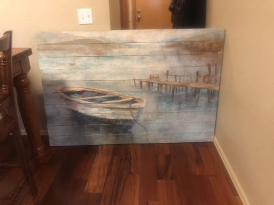 Very large wooden picture