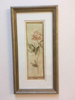 Peony on Linen by Cheri Blum print picture