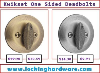 Buy One Sided Deadbolts  | Kwikset hardware | Call us (800) 604-1922