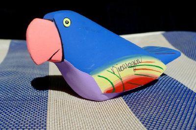 Handmade Nicaraguan Balsa Wood Bird Figure