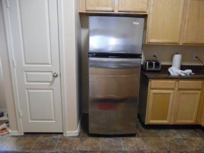 Whirlpool 18 cf.stainless fridge