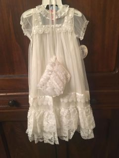 Beautiful NWT Vintage Christening Gown
