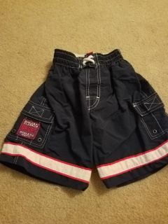 SMALL, BUGLE BOY, NAVY BLUE SWIM TRUNKS, EXCELLENT CONDITION, SMOKE FREE HOUSE