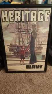 Classic navy recruiting poster