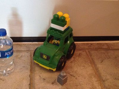John Deere Truck with Figure and Stacking Blocks