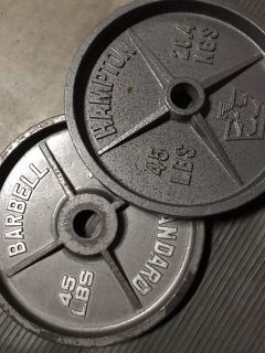 Mixed matched 45lb olympic weight pair(s)/set(s)