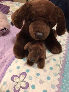 Build a Bear. Brown dog and her baby