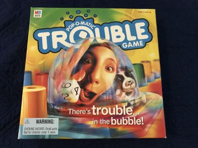 Trouble game. Ages 5 up