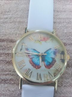 Beautiful Butterfly Lady's Watch With Brand New Battery