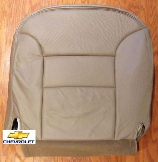 Sell 96 97 98 Chevy Suburban Tahoe LT LS Leather Driver Side Bottom Seat Cover Tan motorcycle in Houston, Texas, US, for US $195.00