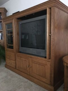 ENTERTAINMENT CENTER AND TELEVISION