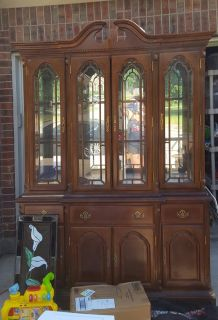 VINTAGE Wood China Cabinet Only