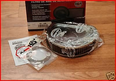 Find K&N HIGH FLOW AIR FILTER CLEANER 1999-2013 HARLEY DAVIDSON BIG TWIN MOTOR ENGINE motorcycle in Zieglerville, Pennsylvania, US, for US $69.95