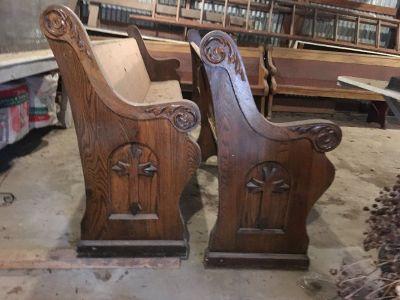 used antique church pews