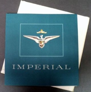 Sell NOS 1956 Chrysler Imperial Southhampton & Sedan Prestige XL Sale Brochure motorcycle in Holts Summit, Missouri, United States, for US $64.56
