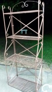 (WROUGHT IRON) STAND/RACK.....EXCELLENT CONDITION