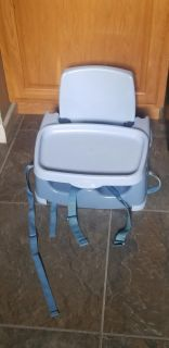 Booster seat with tray. Fold flat for storage. First come! WANT GONE