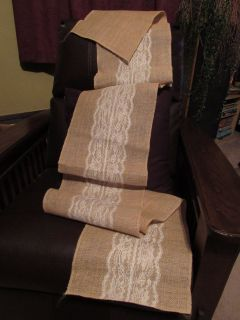 9 Burlap Lace Table Runners