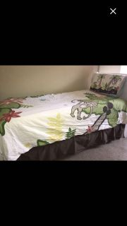 8 piece bed set with window panels and hangers