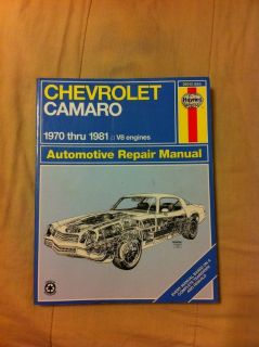 Camaro repair manual