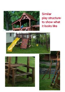 Play Structure / Swing Set by Sunray by Rainbow