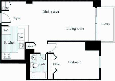 1 bedroom in Chevy Chase