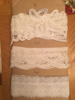 Lot of 11 Different Lace Trims (+20 yards)