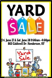 Multi-Family Yard Sale Friday & Saturday!!!