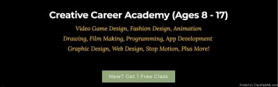Kids/Teens: Game Creation, Animation, Fashion Classes