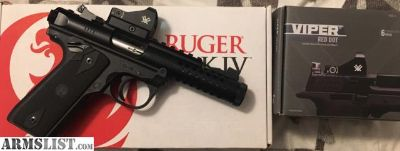 For Sale/Trade: Ruger Mark IV 22/45 lite w/red dot