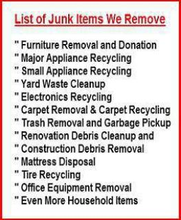 Junk Removal and Property Clean Outs