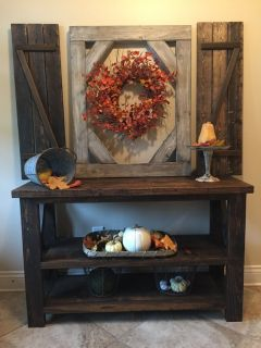 Shutters / frame / and entry table Priced separately